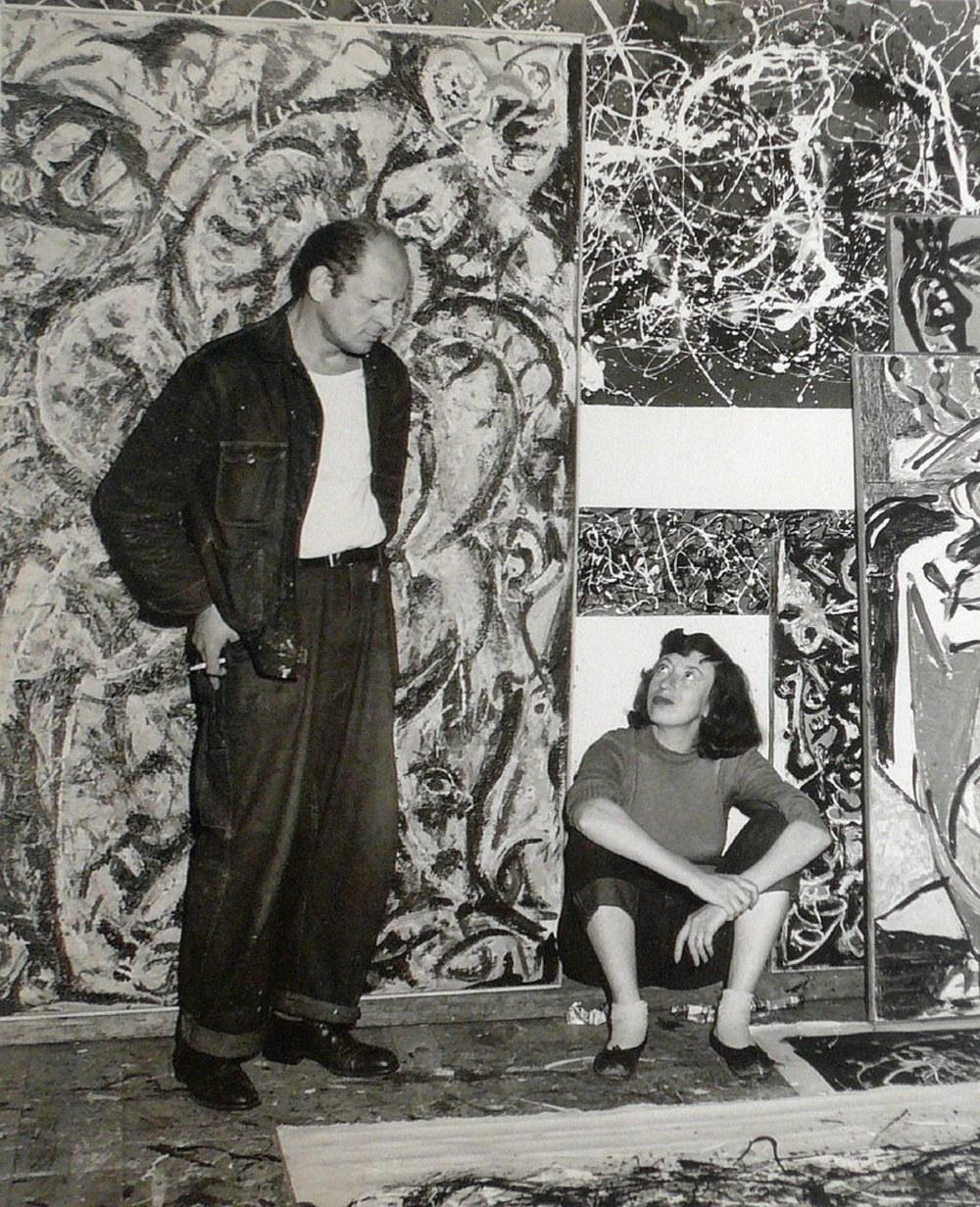 Fig. 3 Jackson Pollock e Lee Krasner nello studio di Pollock, 1949. Come per Karabekian, lo studio è in un magazzino.
