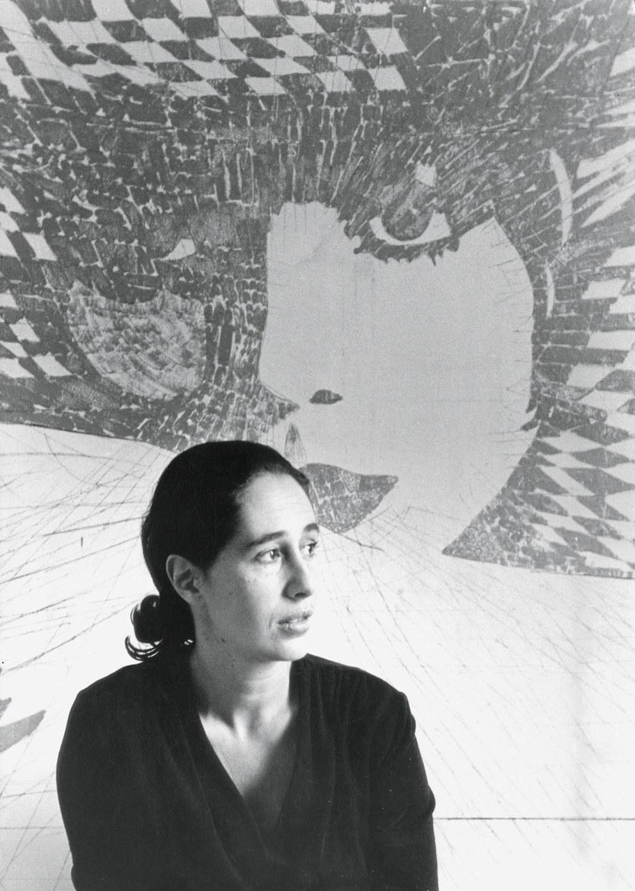 Giosetta Fioroni, 1966, foto di Elisabetta Catalano