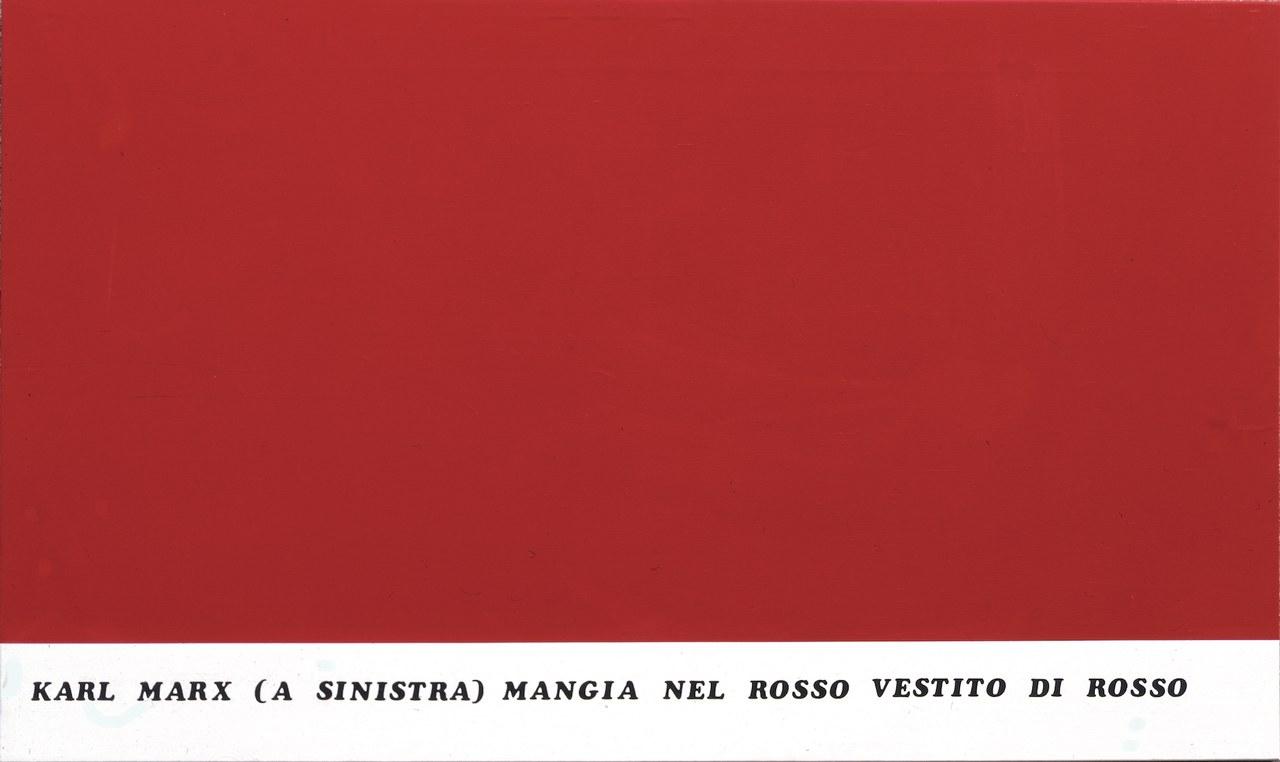 Emilio Isgrò, Dittico Marx-Engels 1974 (sinistra)