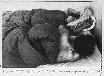 S. Calle, '8 heures. Il ne s'imaginepas…', in Les Dormeurs, 1979