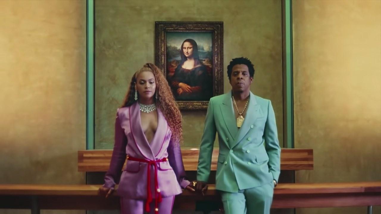 fig. 2 Beyoncé, Jay-Z e la Gioconda nell'apertura del videoclip
