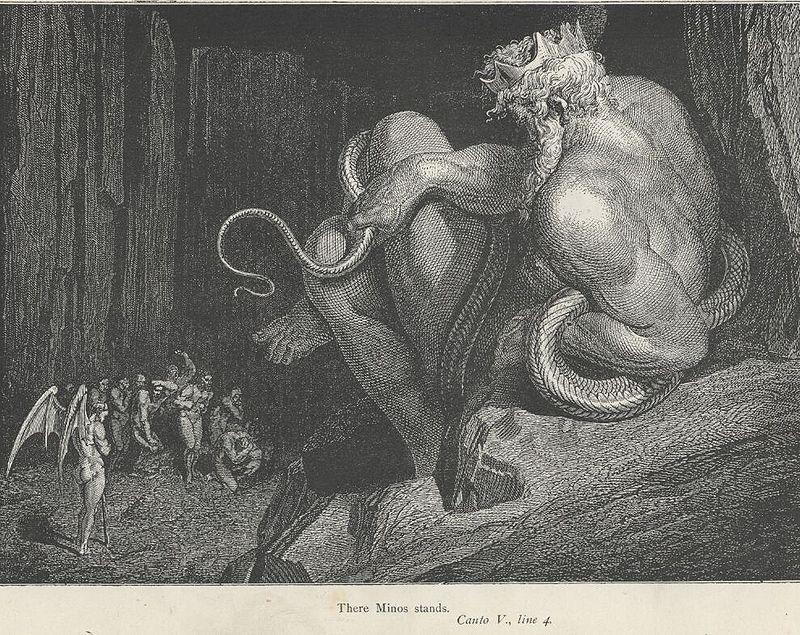 fig. 4 G. Dore,Minosse, giudice dei dannati, 1861