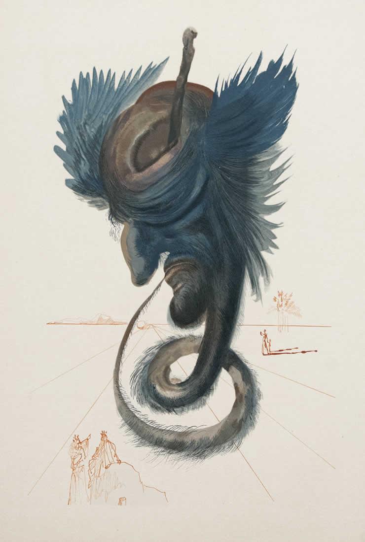S. Dalì,Il nero cherubino, 1950-52