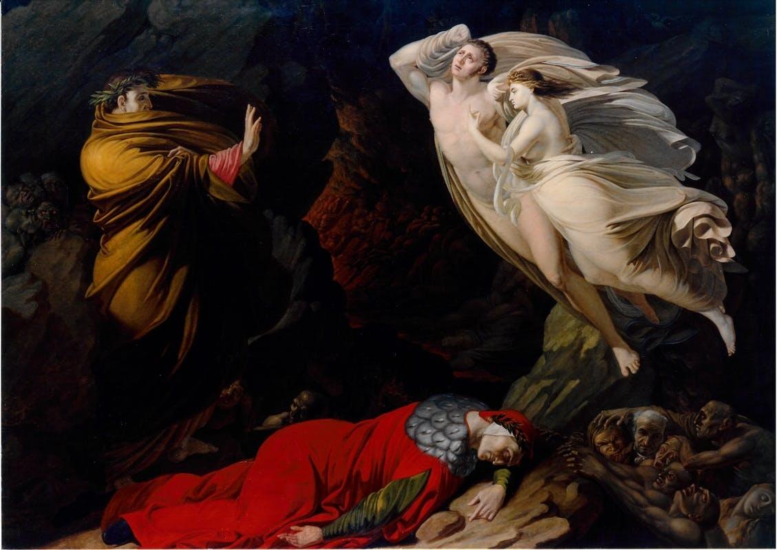 fig. 2 Nicola Monti,Francesca da Rimini nell'Inferno dantesco,1810, Firenze, Gallerie degli Uffizi