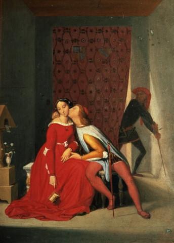 fig. 2 Jean-Auguste-Dominique Ingres,Francesca da Rimini et Paolo Malatesta, 1819