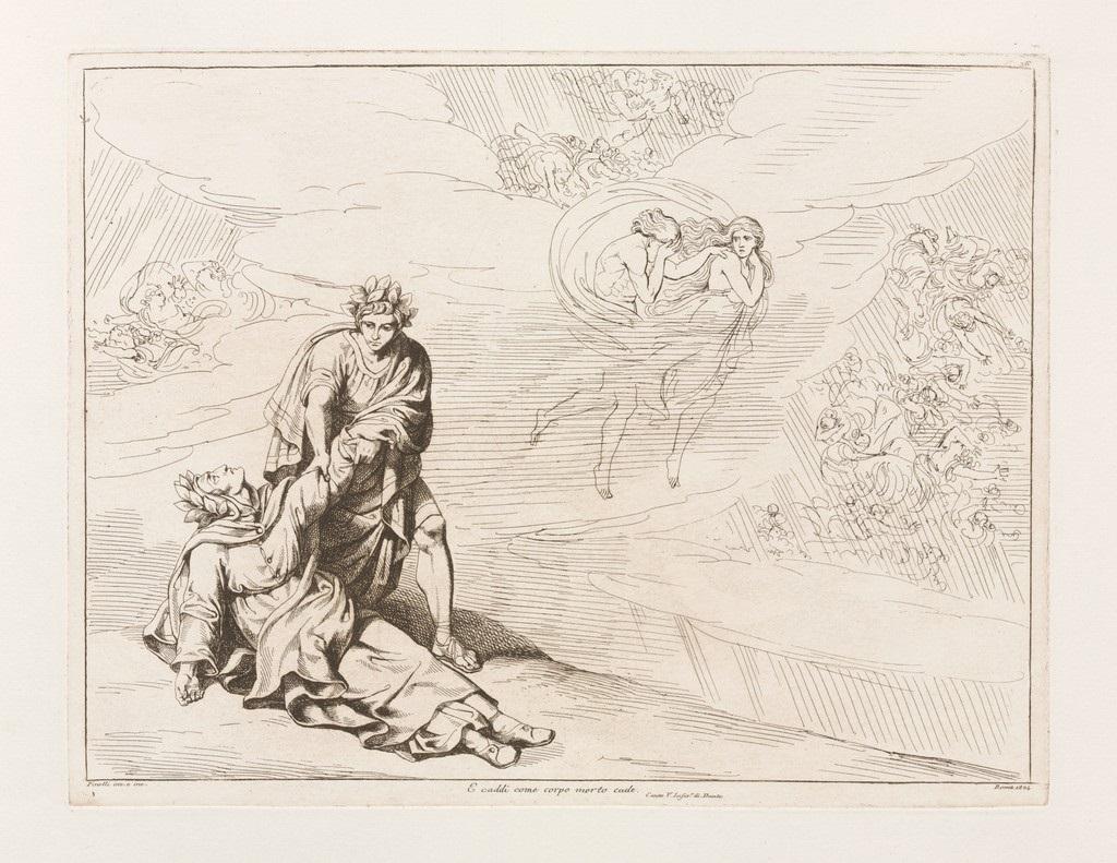 fig. 3 Bartolomeo Pinelli,Divina commedia. Inferno, canto 5, 1824