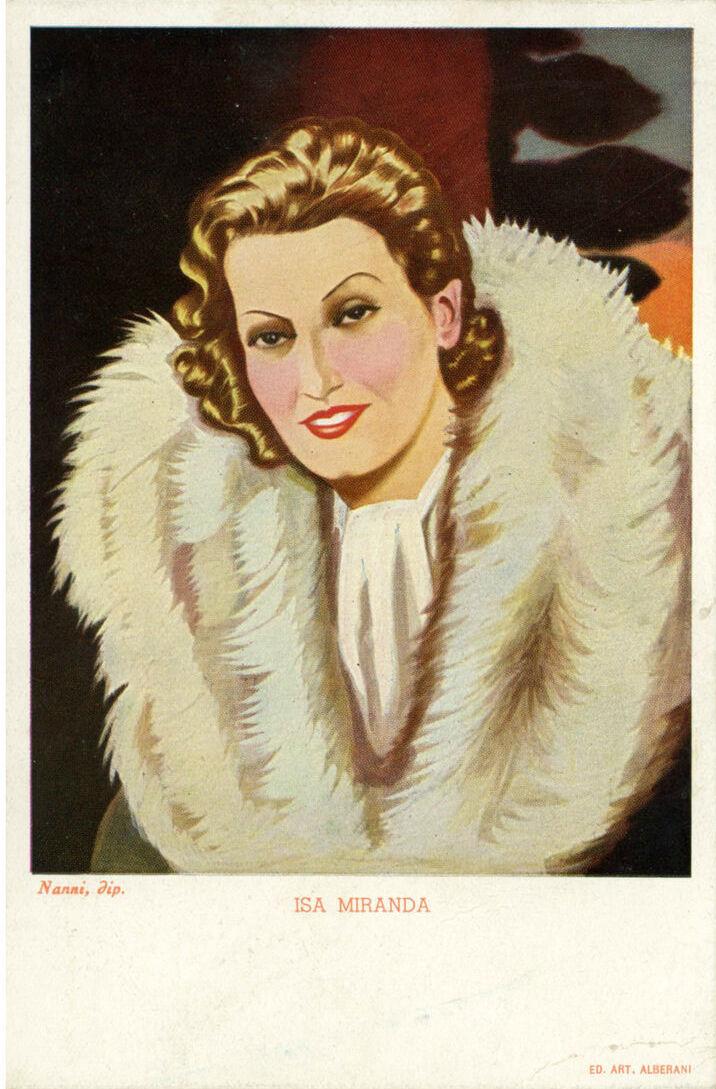 Fig. 4 Pubblicità Sali di Frutta Alberani, ritratto di Isa Miranda di Nanni (anni '40)