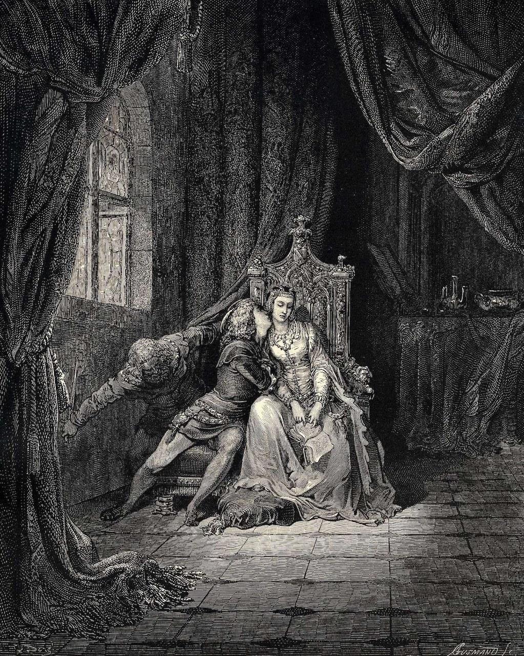 fig. 4 Gustave Dorè,Paolo e Francesca, 1861