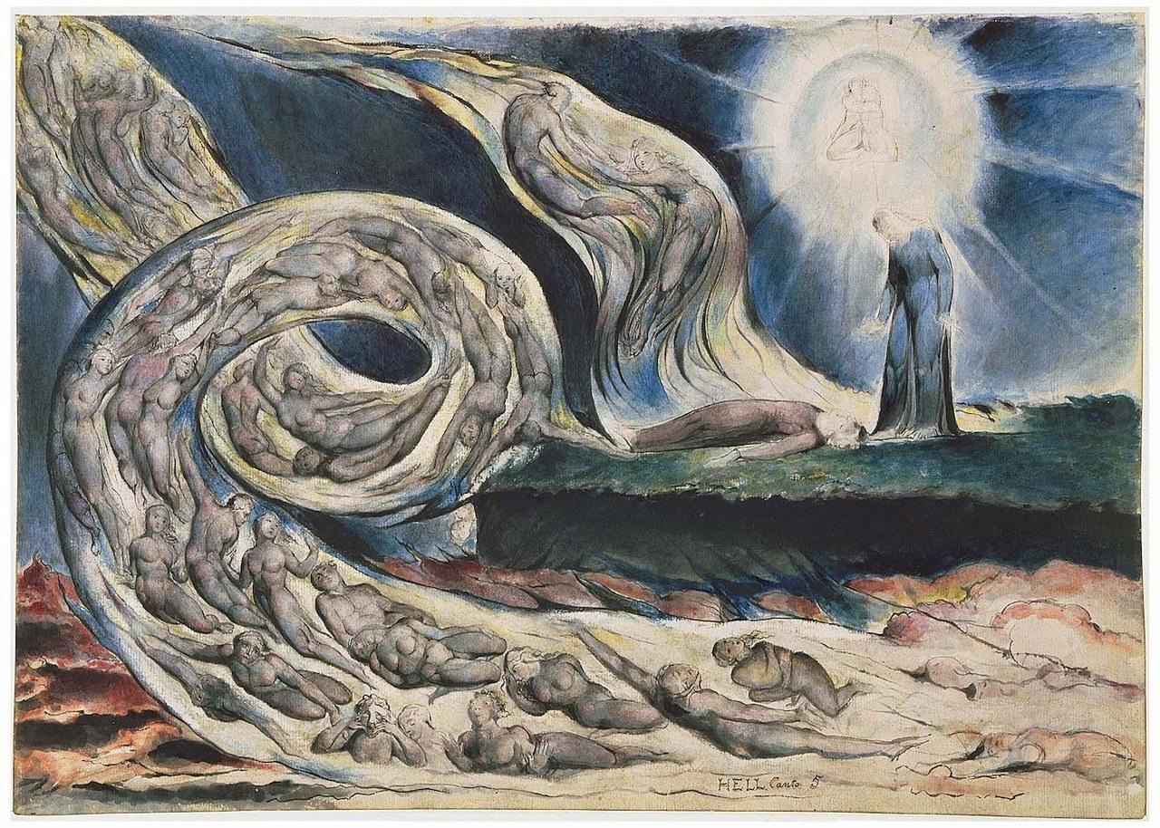 fig. 5 William Blake,The Circle of the Lustful.Francesca da Rimini, 1824-1827