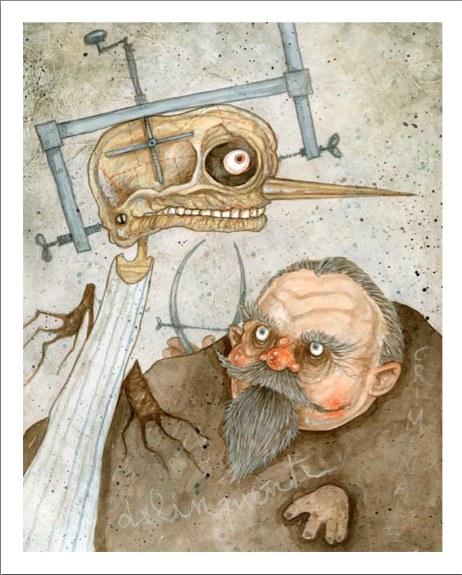 Fig. 6. Stefano Bessoni, Pinocchio, Cesare Lombroso, 2014