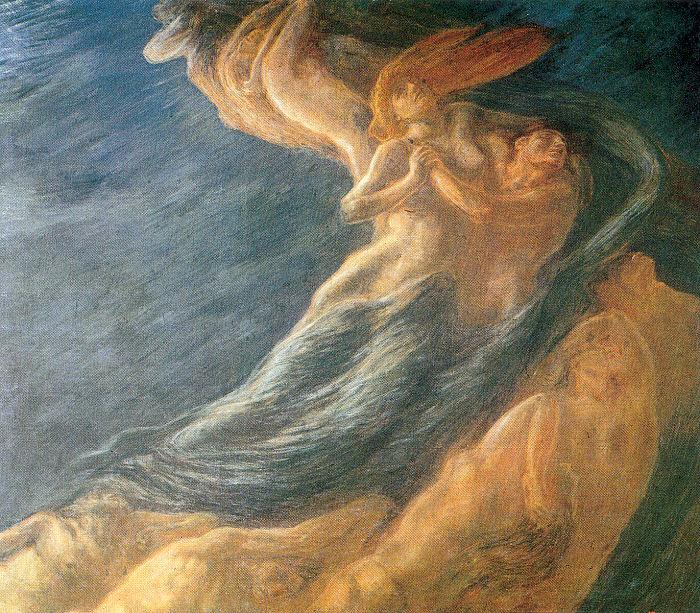 fig. 6 Gaetano Previati,Paolo e Francesca, 1909