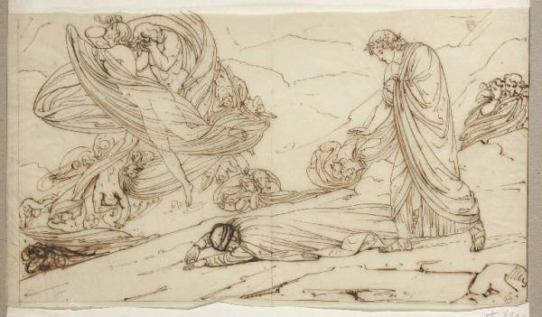 fig. 6 Michele Bisi,Dante e Virgilio con Paolo e Francesca, 1823 ca., Milano, Museo Poldi Pezzoli