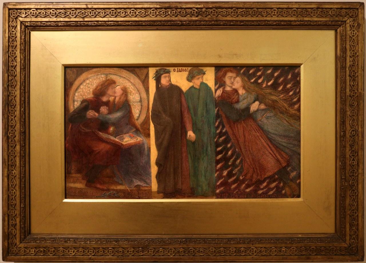 fig. 6 Dante Gabriel Rossetti,Paolo e Francesca da Rimini, 1855