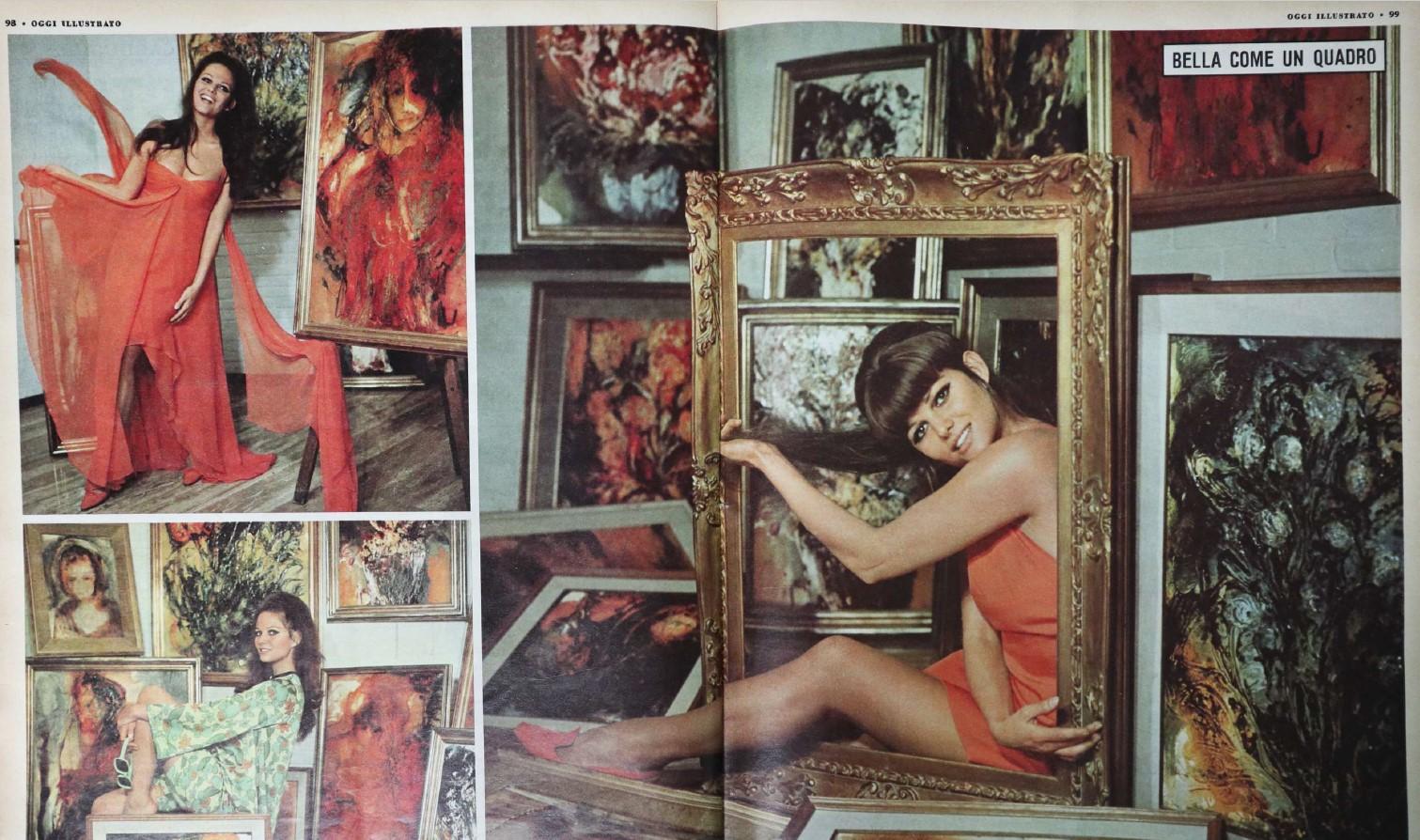 Fig. 8 Claudia Cardinale in un servizio fotografico su Oggi