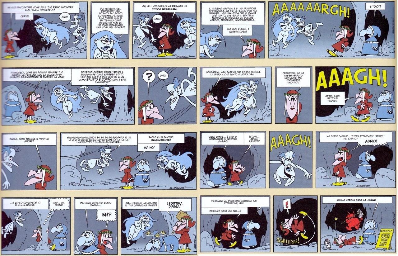 fig. 3 La divina commedia a fumetti di Marcello, pp. 27-28