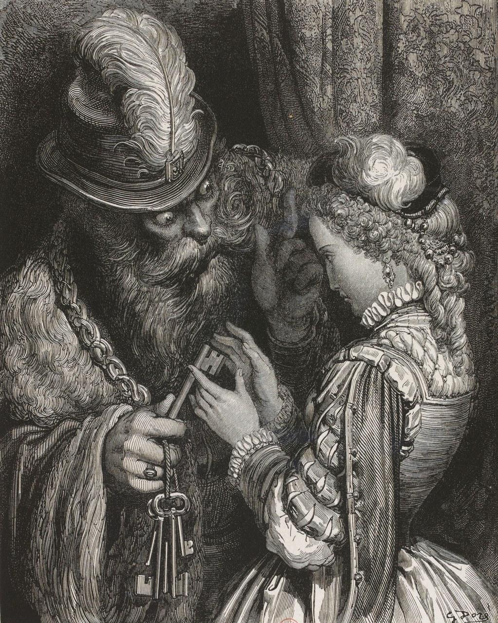 Fig.1 Gustave Doré, S'il vous arrive de l'ouvrir, iul n'y a rien que vous ne deviez attendre de ma colère, 1862.