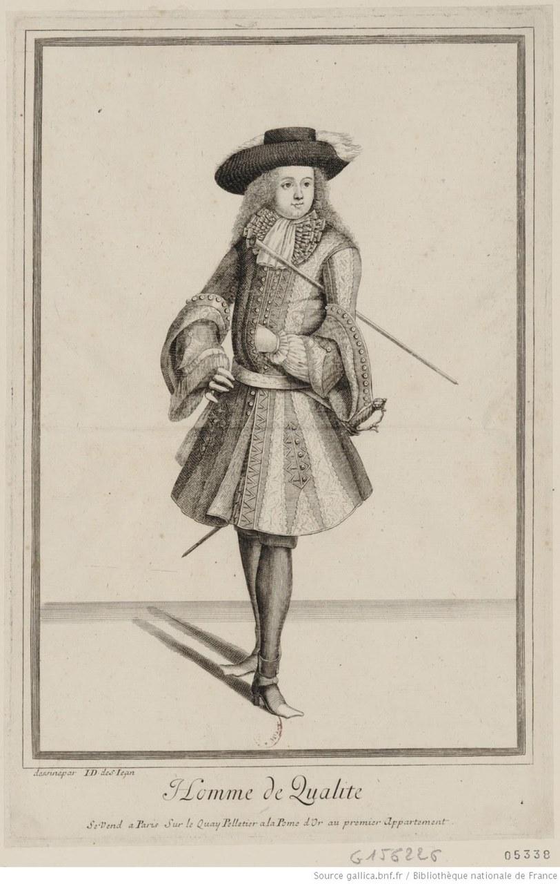 Fig. 2 Jean Dieu de Saint-Jean (1655-1695), Homme de qualité(gallica.bnf.fr / BnF).