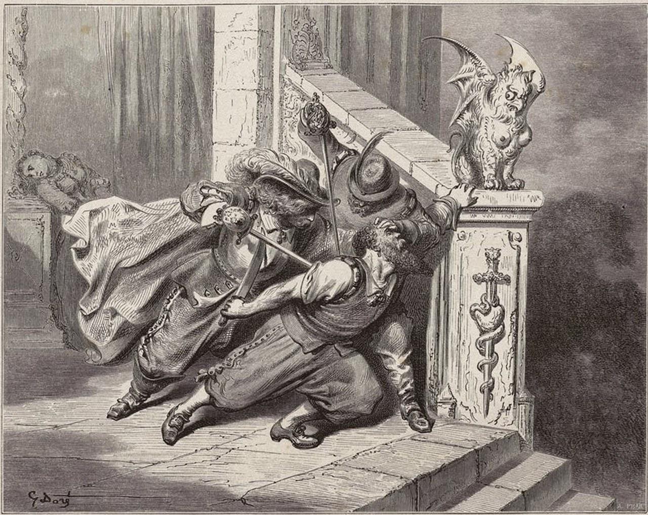 Fig. 4 Gustave Doré, La mort de Barbe Bleue, 1862.