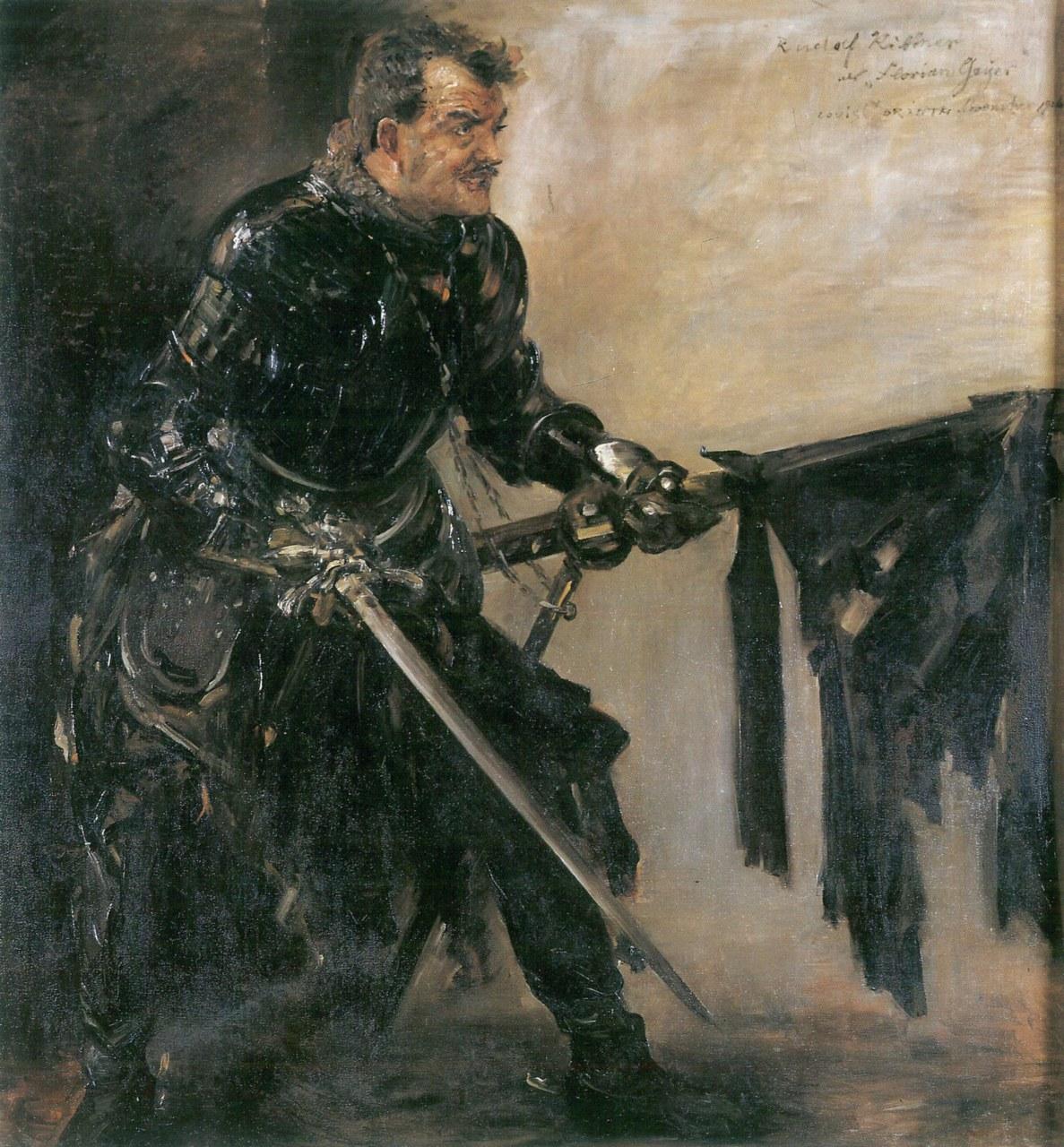 Fig. 3 Lovis Corinth, Rudolf Rittner nei panni di Florian Geyer di Hauptmann.