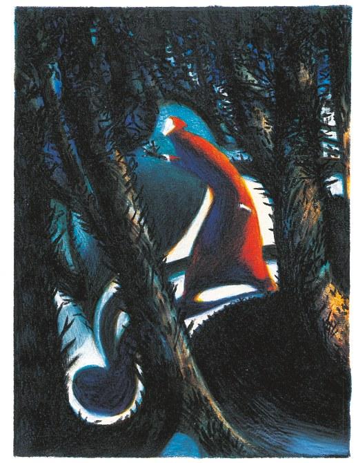 Lorenzo Mattotti, Dante nella selva, © Mattotti