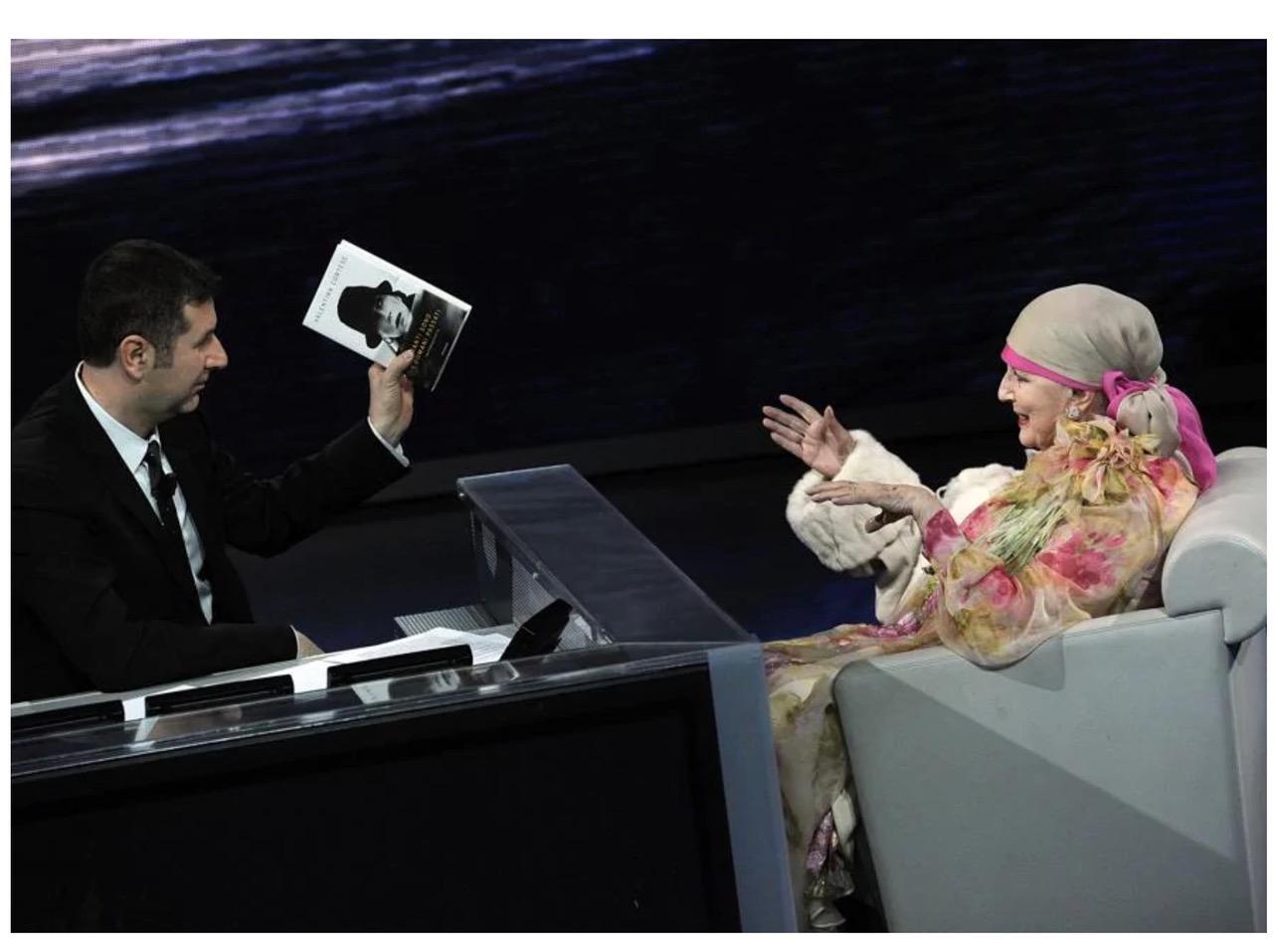 Fig. 7 Fabio Fazio intervista Valentina Cortese a Che tempo che fa (aprile 2012)