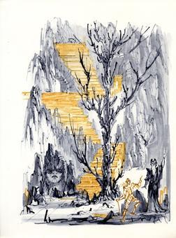 Fabrizio Clerici, Bradamante, litografia, 1967