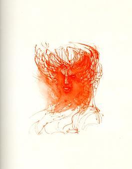 Fabrizio Clerici, Alcina, litografia, 1967