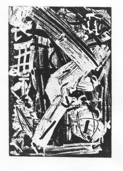 Emilio Vedova, La pazzia di Orlando, acquaforte, 1970-74
