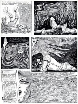 Pino Zac, Profezie di Morgana, tavole a china, 1975