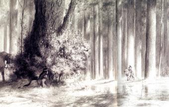 Paul e Gaëtan Brizzi, Angelica nella selva, matita su carta, 2005