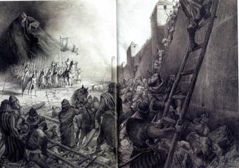 Paul e Gaëtan Brizzi, Il Silenzio e l'esercito di Rinaldo all'assedio di Parigi, matita su carta, 2005
