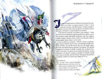 Grazia Nidasio, Bradamante e l'ippogrifo, tecnica mista su carta, 2009