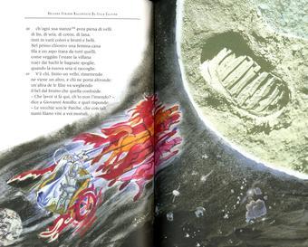 Grazia Nidasio, Astolfo sulla luna, tecnica mista su carta, 2009
