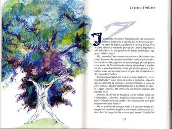 Grazia Nidasio, La pazzia di Orlando, tecnica mista su carta, 2009