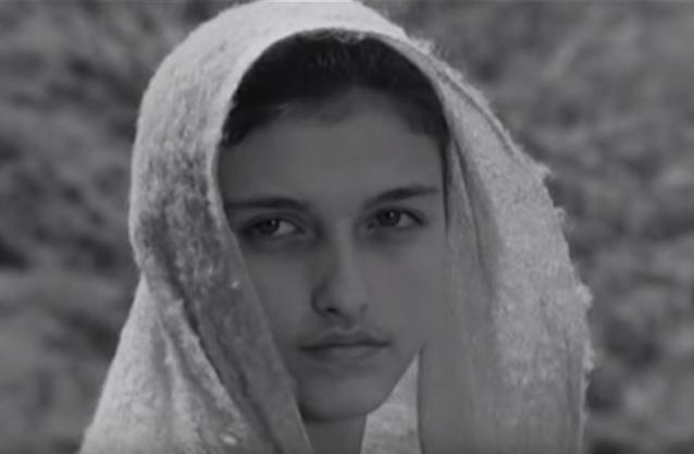 Primo piano di Maria daIl Vangelo secondo Matteo(1964)