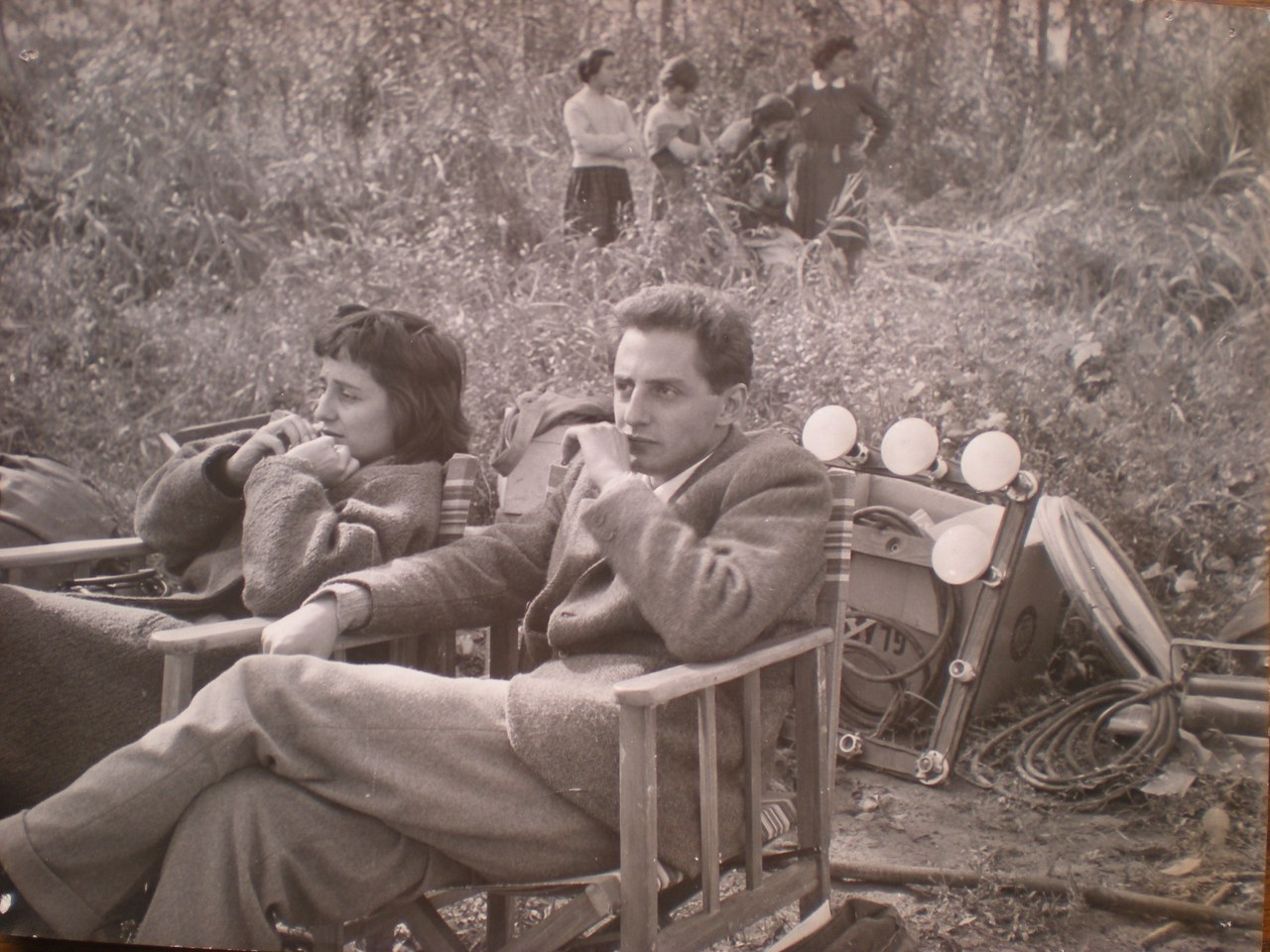 Sapienza sul set con Maselli © Archivio Sapienza Pellegrino