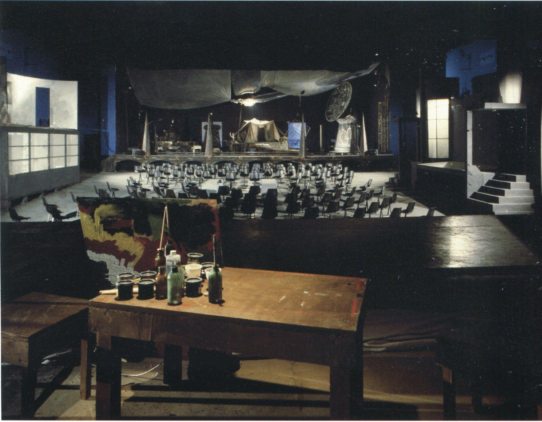 Falso Movimento, Ritorno ad Alphaville, regia Mario Martone, Benevento, 1986 ©Cesare Accetta