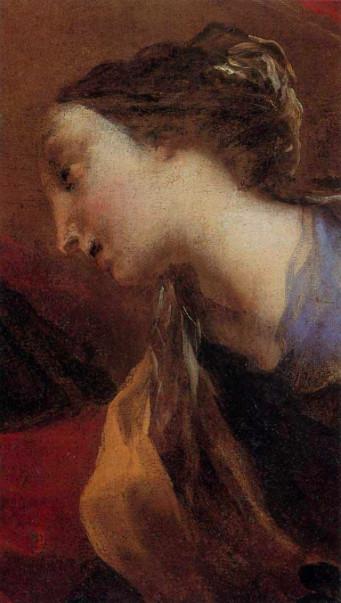 Valerio Castello (Genova, 1624 – 1659), Santa Zita (particolare), olio su carta incollata su tela, Genova, Musei di Strada Nuova, Palazzo Bianco – p. 80