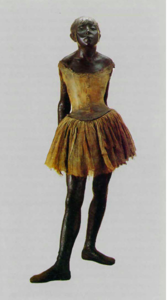 Edgar Degas (Parigi, 1834 – 1917), La ballerina vestita, bronzo e tessuto, San Paolo, Museu de Arte – p. 114