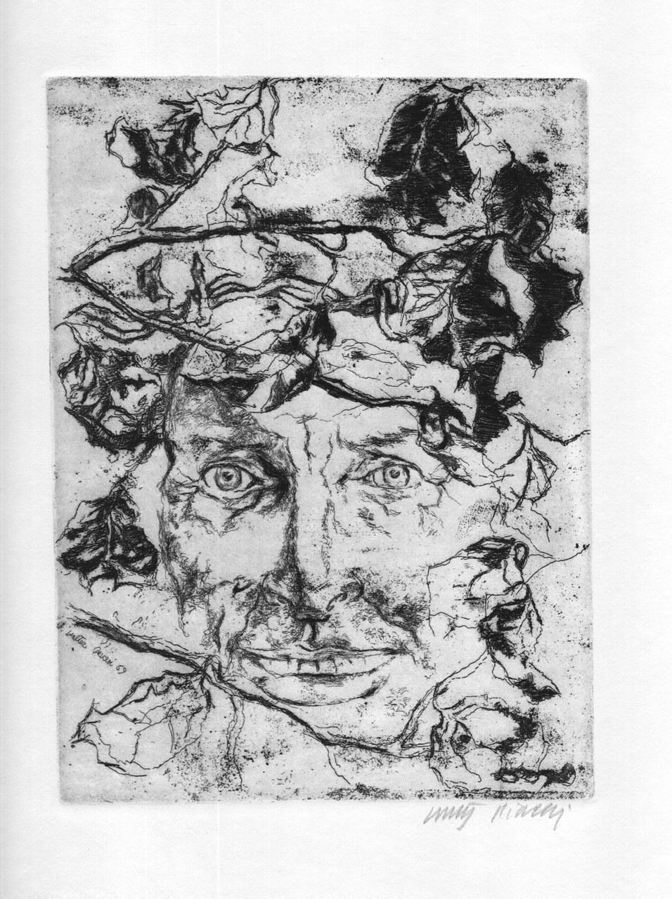 Acquaforte di Walter Piacesi per Sereni, 1970 a