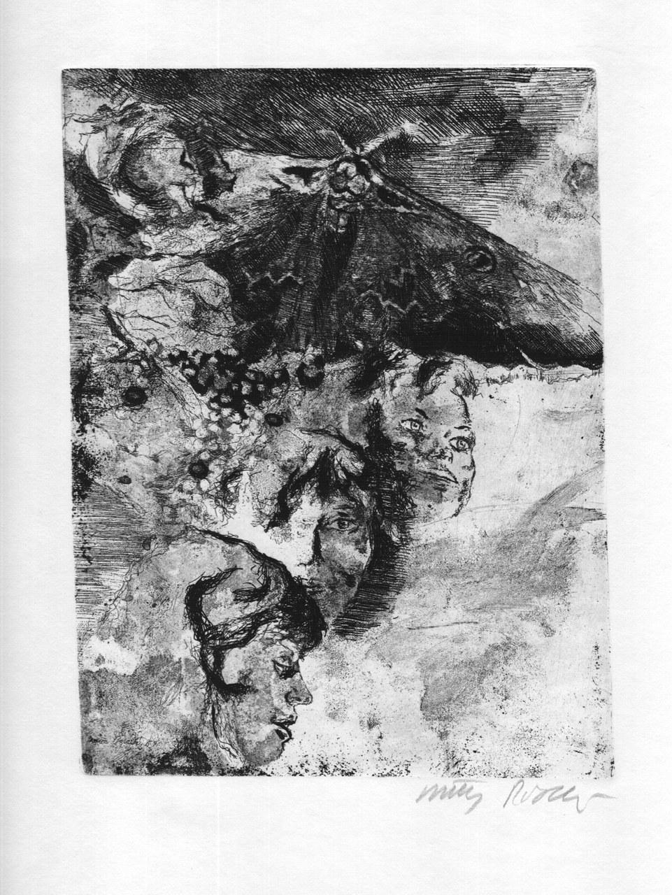 Acquaforte di Walter Piacesi per Sereni, 1970 b