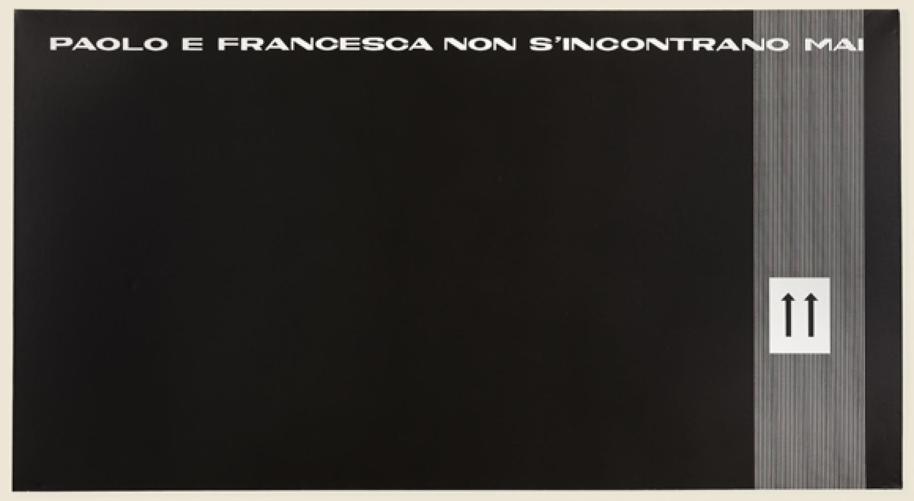 Paolo e Francesca, 1966 (versione in bianco)