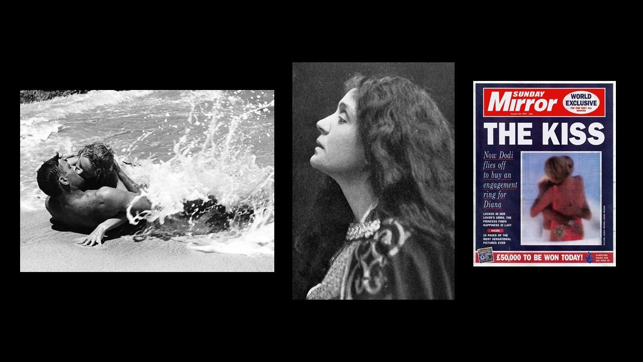 figg. 9-10-11 Fred Zinnemann,From here to eternity, 1953; Eleonora Duse inFrancesa da Rimini, Gabriele D'Annunzio, 1901;The kiss, Sunday Mirror, 1997