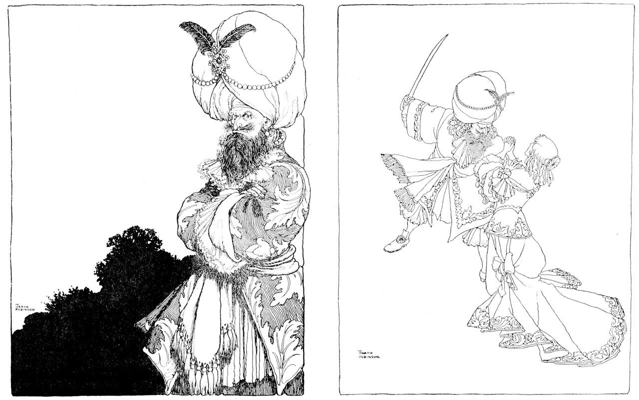 Charles Perrault, Old Times Stories, illustrato da W. Heath Robinson, New York, Dodd, Mead & Company, 1921 (Wikimedia Commons)