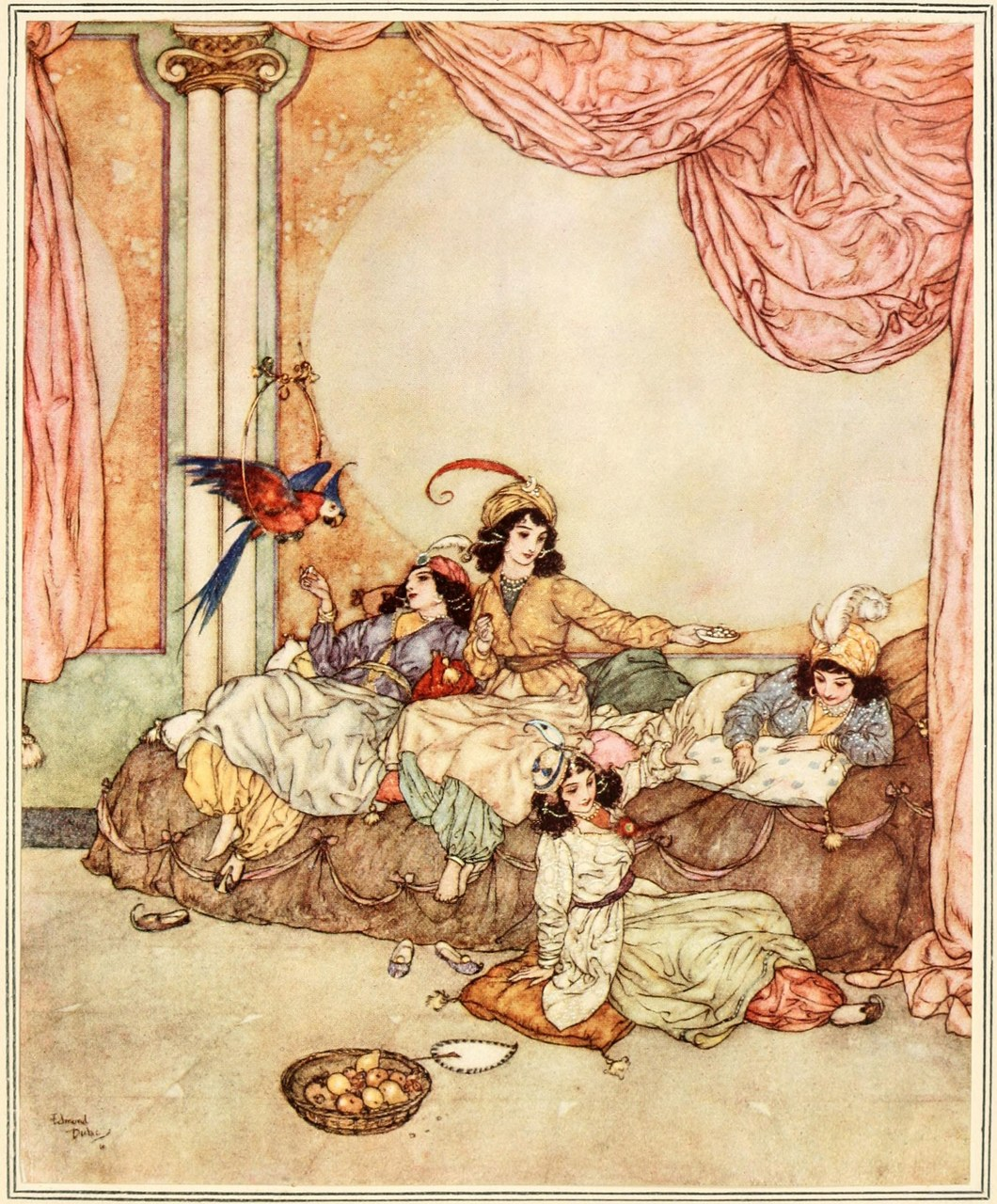 Arthur Quiller-Couch, The Sleeping Beauty and Other Fairy Tales From the Old French, illustrato da Edmund Dulac, 1910 (Wikimedia Commons)