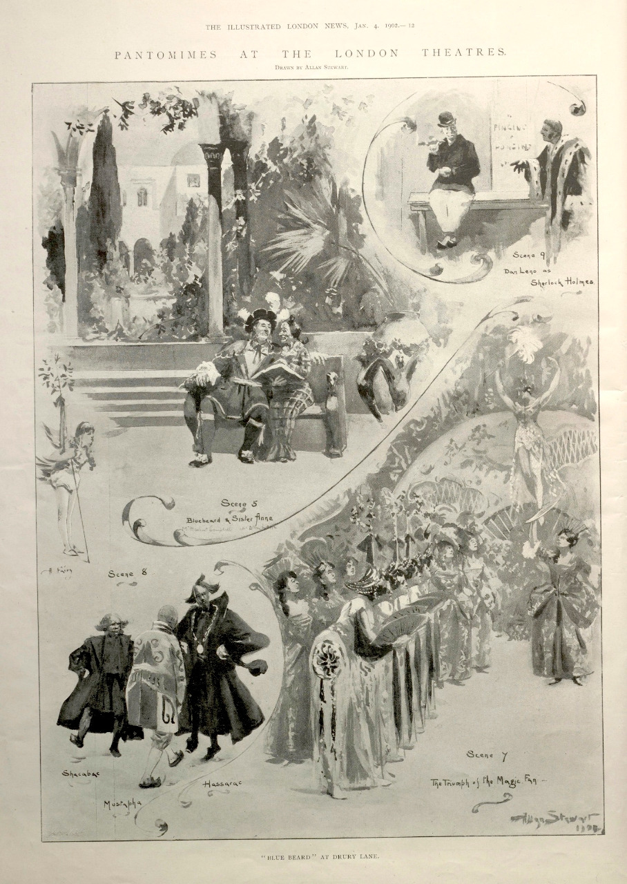 Allan Stewart, Pantomimes at the London Theatres. The Illustrated London News, 4 January 1902. Courtesy of the Sackler Library