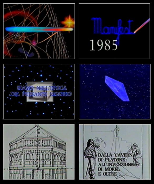 Enrico Cocuccioni e team SBP-CGE, Manifesto 1985, 1985, still da video