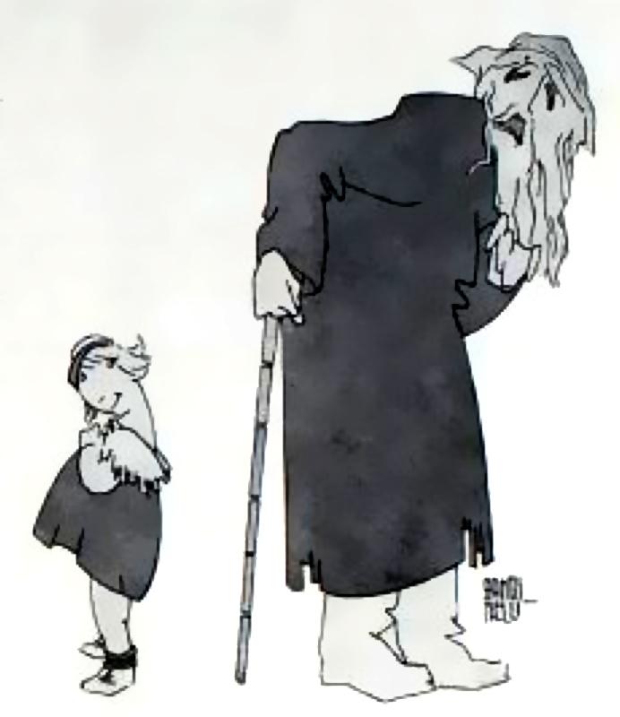 Dialogo tra teatro e cinematografo, illustrazione pubblicata su In penombra 1918