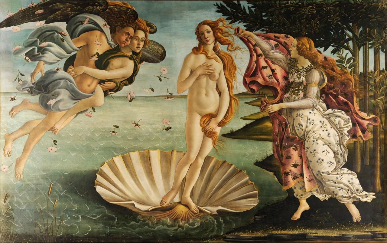 Fig. 2Sandro Botticelli, La nascita di Venere, ca. 1485, particolare (Wikimedia Commons).