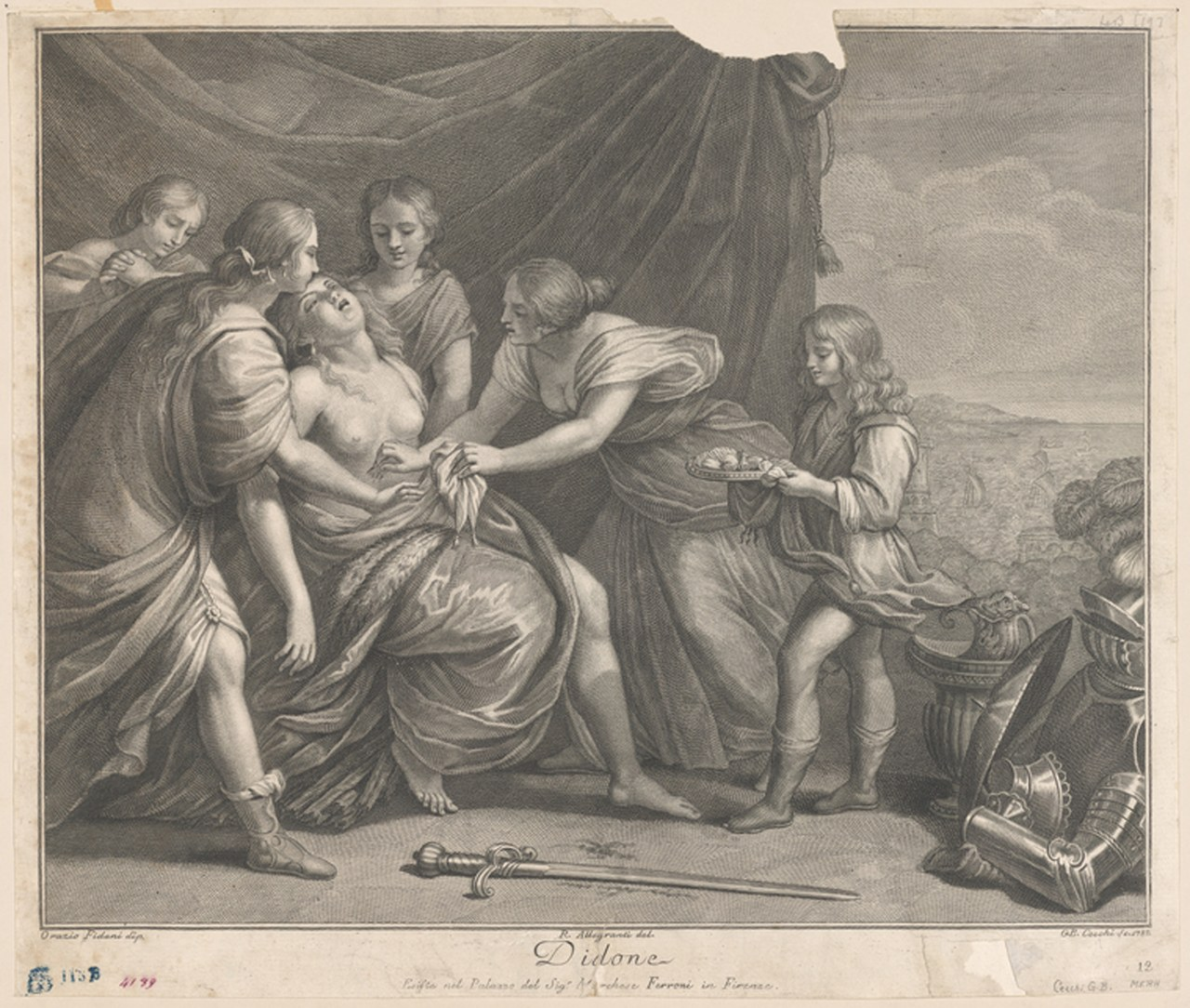 Fig. 3 Cecchi, Giambattista, La morte di Didone, XVII sec. (The New York Public Library, Digital Connections).